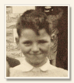 Martin Doyle at 8 or 9 years of age