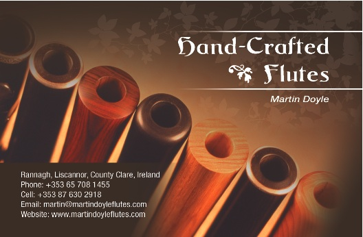 2008: A new business card and brochure for Martin Doyle Flutes.