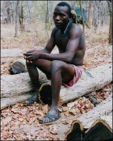 Mpingo logger, Tanzania.