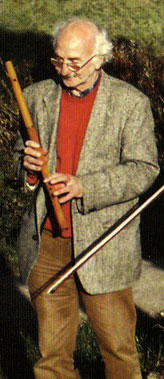 Cathal McConnell with Martin Doyle maple wood C flute.