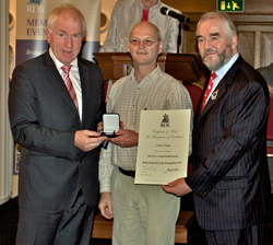 Martin Doyle receives the 2011 RDS Crafts Competition Award