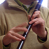 Martin Doyle playing a keyless D flute