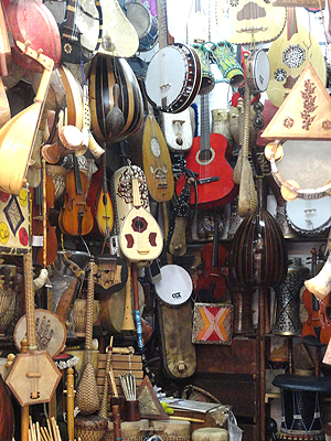Instrument bazaar in Morocco