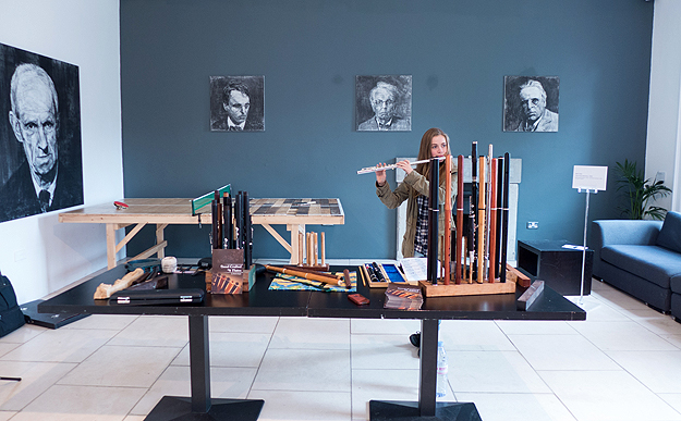 Martin Doyle's stall at the 20th Sligo Festival of Baroque Music, September 2015