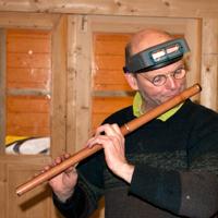 Martin Doyle playing the Kanuka flute.