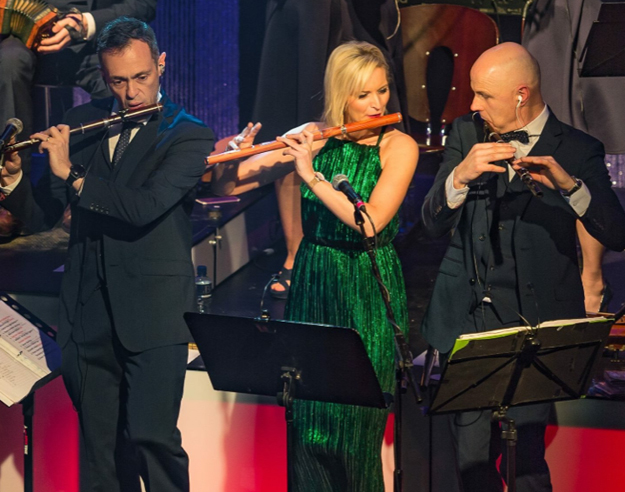 Edel Vaughan performing on tour with the Kilfenora Céilí Band